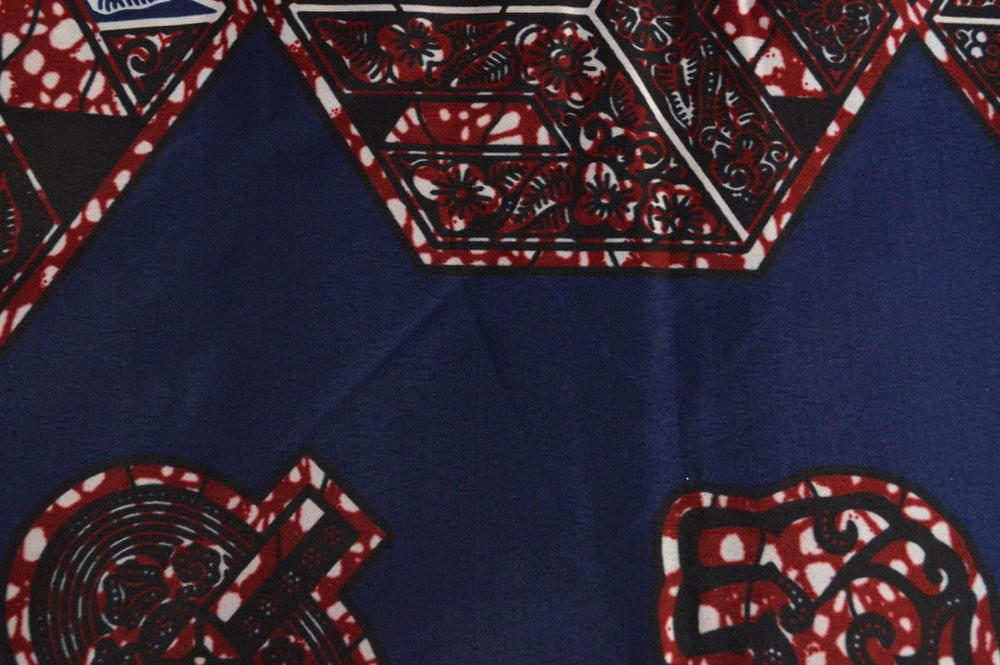 Dark Blue Hexagons