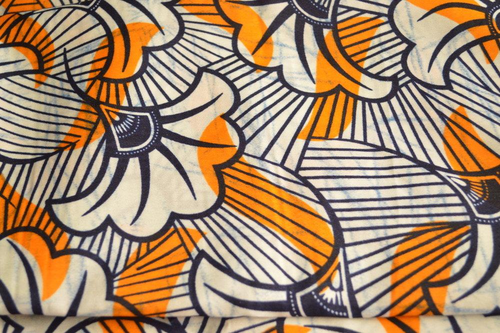 White and Orange Fan