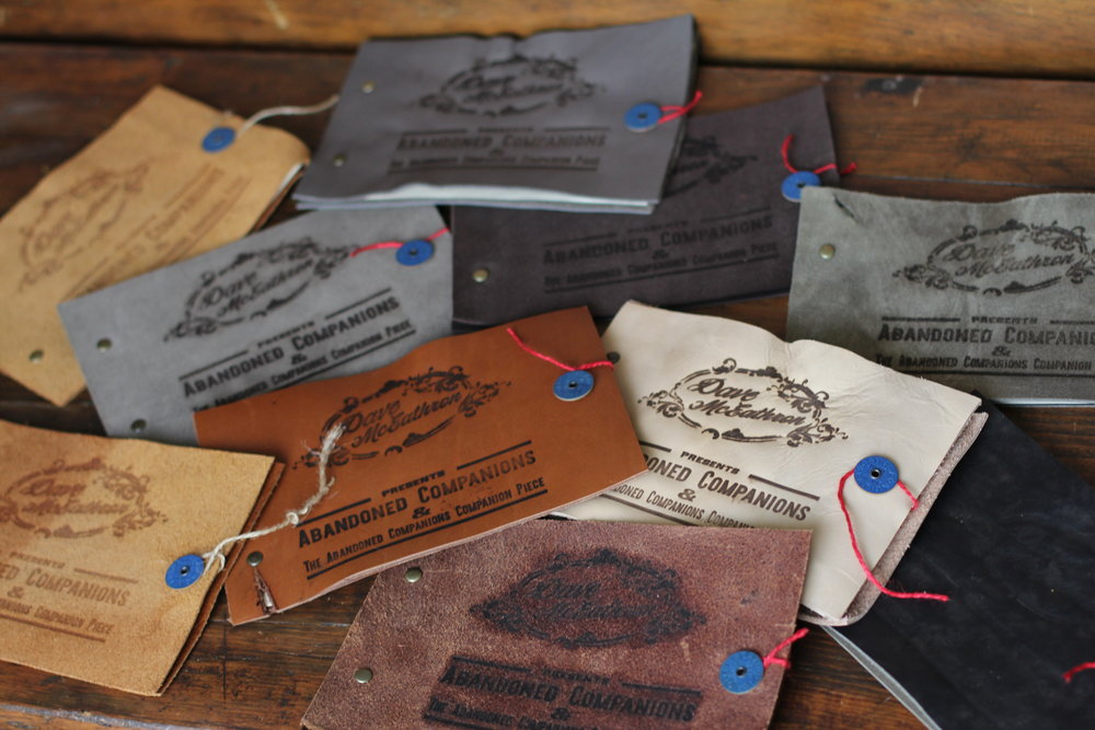 Abandoned companions - out now on iTunes, spotify, and in handcrafted leather-bound songbooks