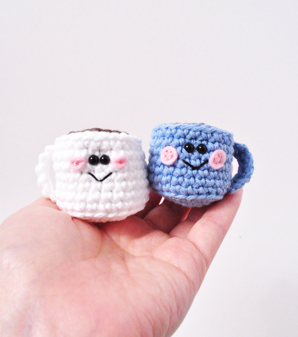 mini coffee mug crochet pattern