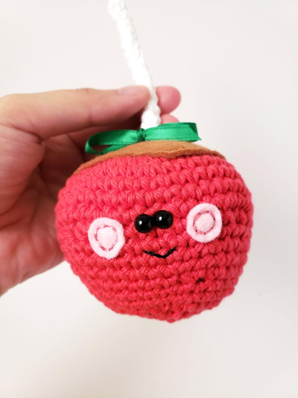 caramel apple crochet pattern