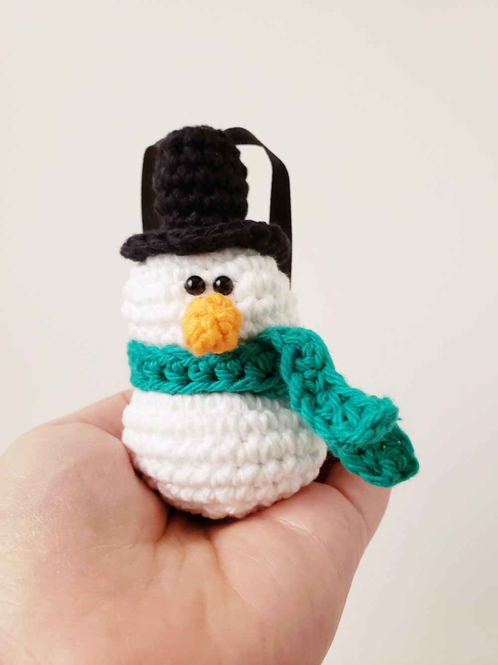Snowman Ornament Crochet Pattern The Pudgy Rabbit