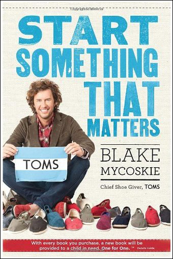 TOMS book cover with Blake Mycoskie