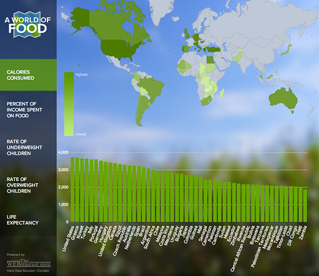 A World of Food graphic by Web Restaurant Store