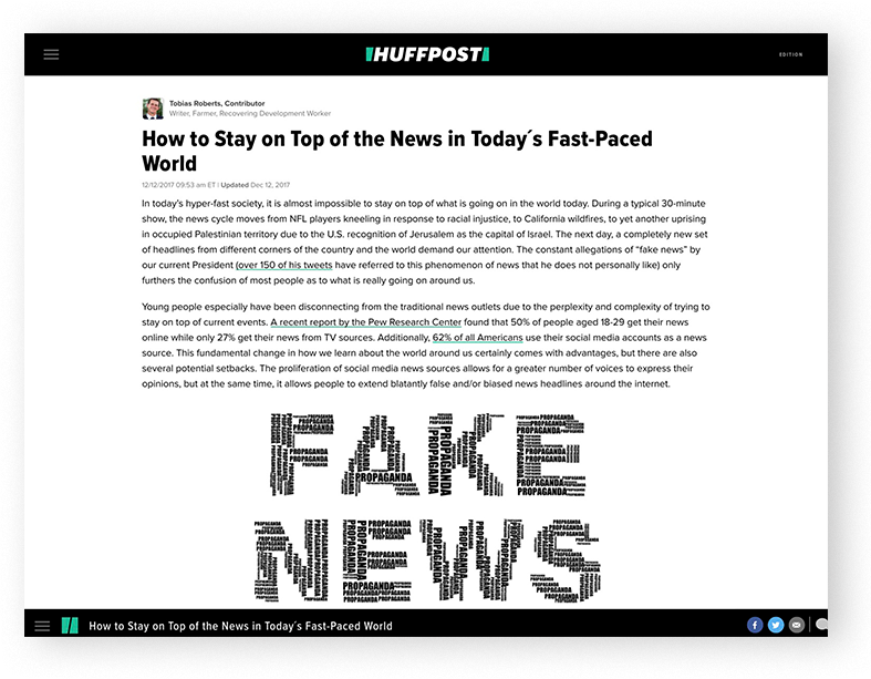 Huffington Post - How to Stay on Top of the News in Today's Fast-Paced World