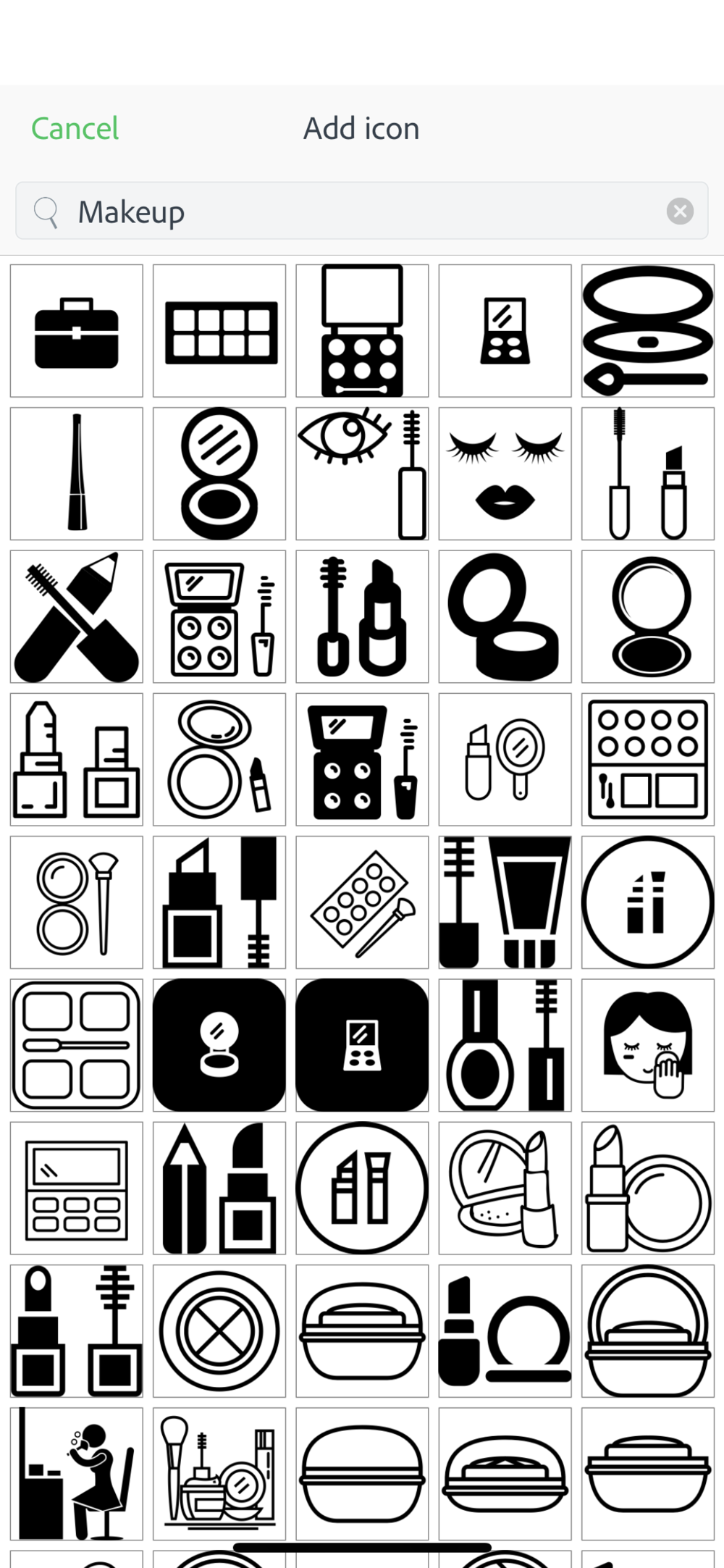 Step 8: - Choose your icons. Again, give it some thought. Make sure it represents you and your brand. There are tons to choose from so spend a little time going through them to find just the right one.