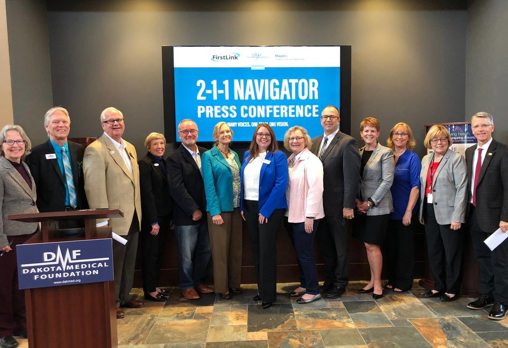 Stakeholders of the Commission attend the 2-1-1 Navigator Press Conference - September 2018