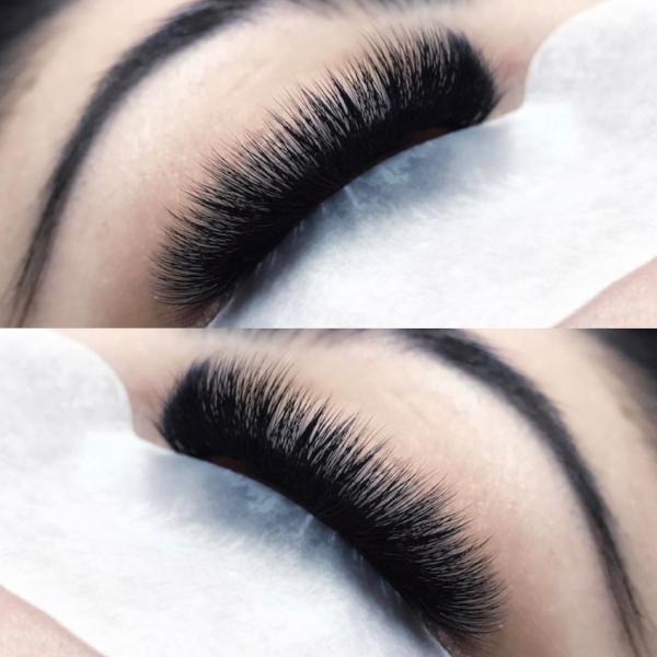 Treasure Russian Volume Set - Creates a fluffy, softer look to your lash extensions. This look is achieved by adding 2+ lash extensions per natural lash. This set is for clients who desire a VERY dramatic look.