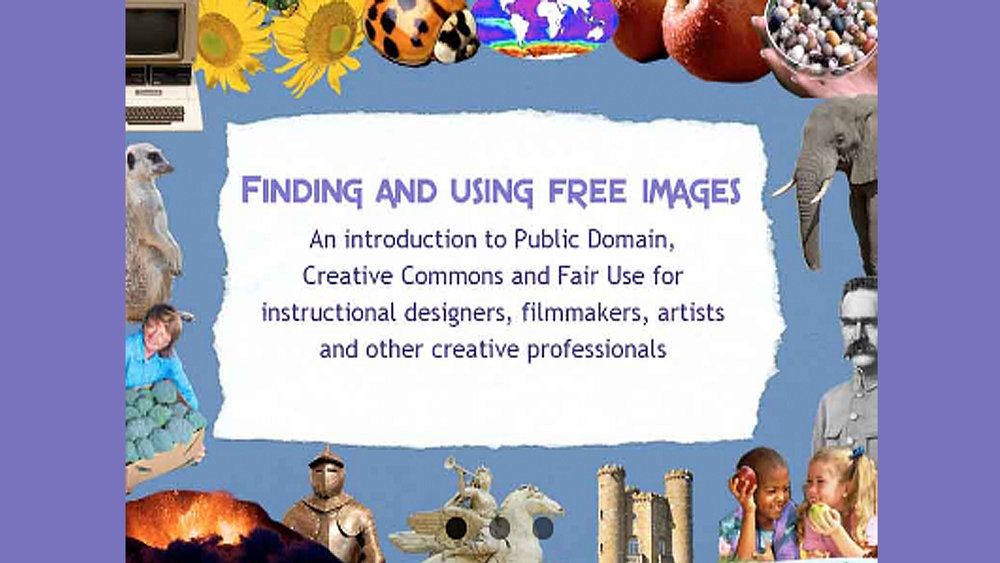 Finding and Using Free Images sample page