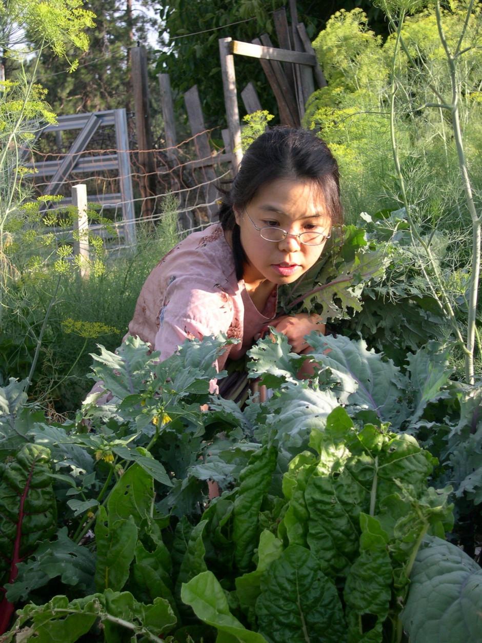 Nina in the garden