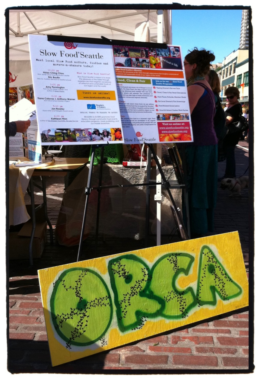 Anthony Warner and Tiana Colovos came out to talk about the Orca K-8 School Garden