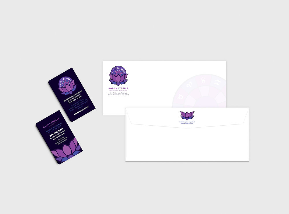 Golden-Antler-Design-Milwaukee-Web-Branding-Marketing-Kara-Catrelle-Logo-Custom-Envelope-Printing