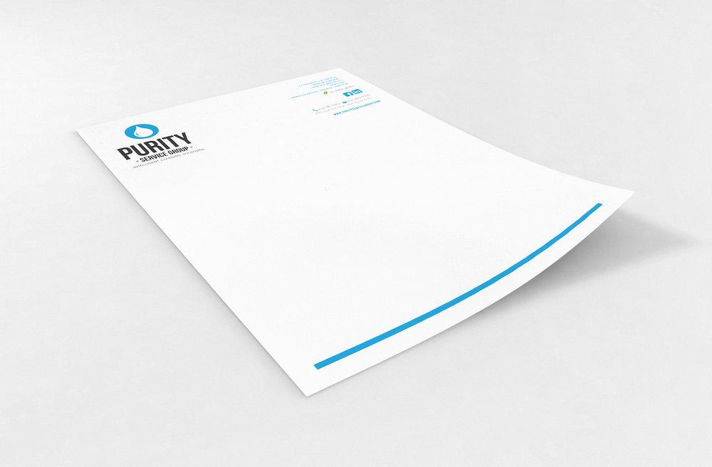 Golden-Antler-Graphic-Design-Milwaukee-Web-Branding-Marketing-Wisconsin-Purity-Service-Group-Letterhead-Printing