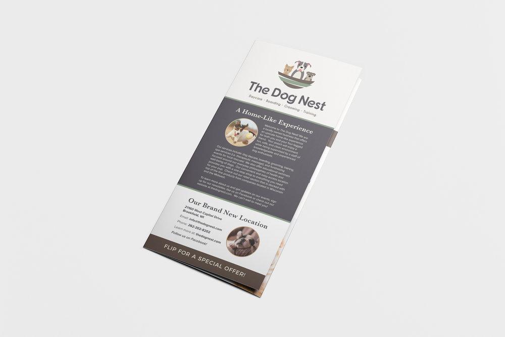 Golden-Antler-Graphic-Design-Milwaukee-Web-Branding-Marketing-Wisconsin-The-Dog-Nest-Brochure-Printing