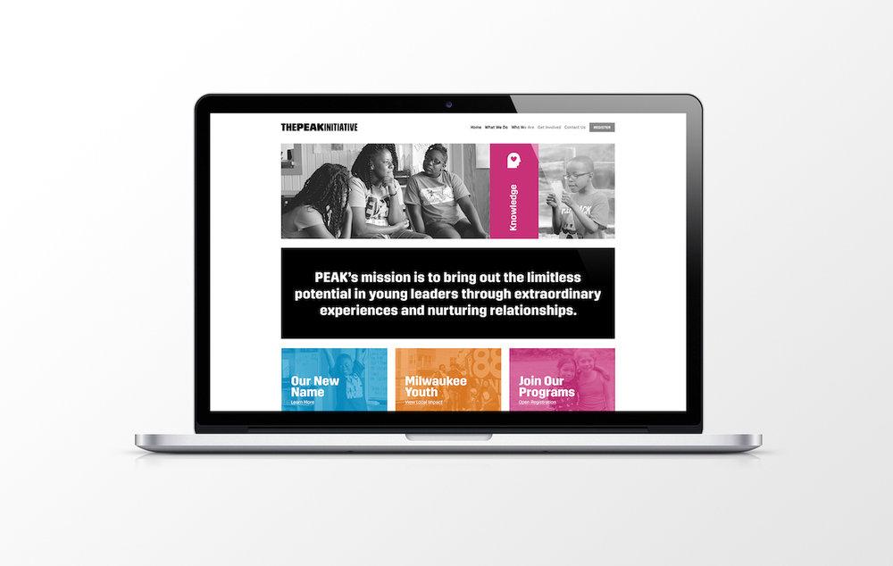Golden-Antler-Design-Web-Development-Squarespace-Branding-Online-UX-PEAK-Initiative-Non-Profit-Wisconsin-New-Website