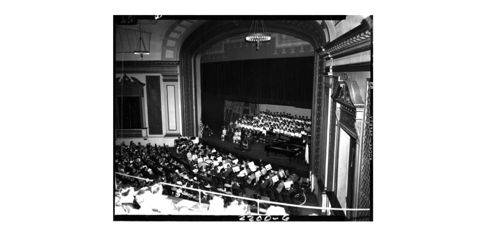 Youth orchestra and chorus, 1945