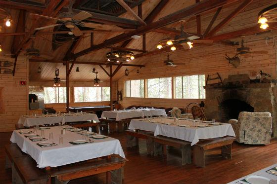 Old Dining Hall - A comfortable room for food and fellowship.