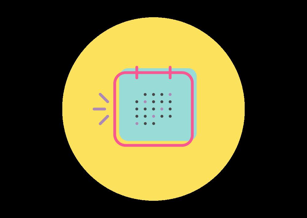 Calendar icon to plan your special needs jobs
