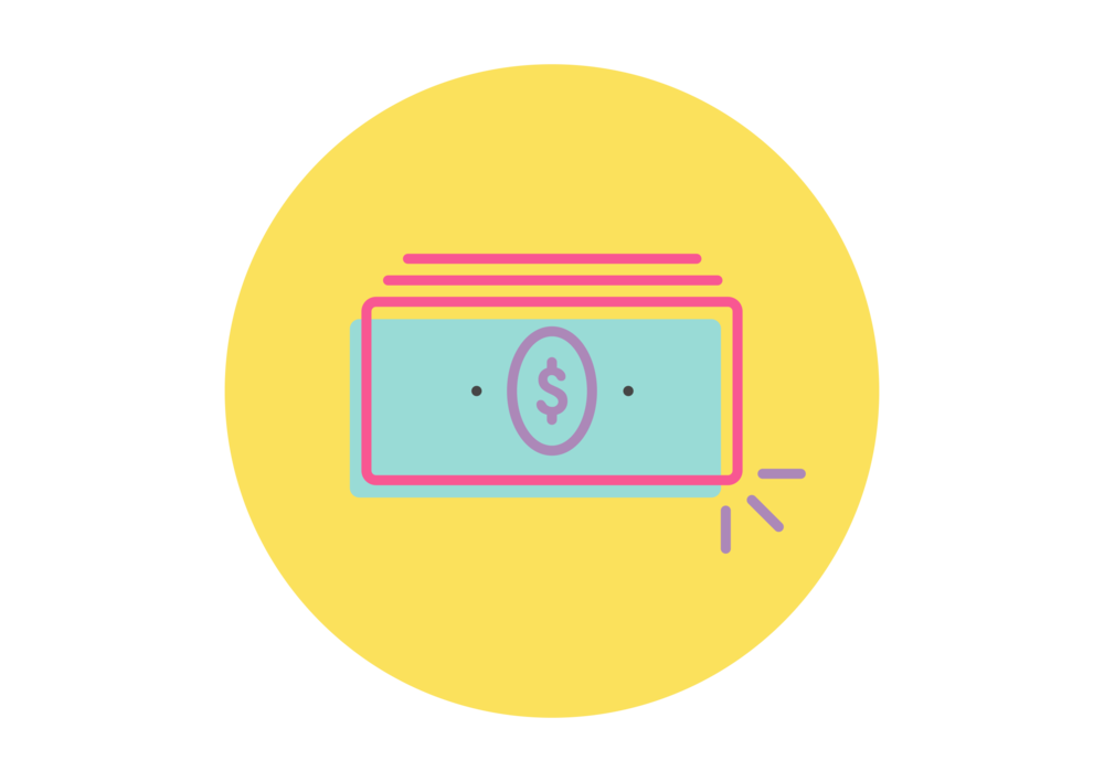 Money icon showing the earning potential for special needs jobs part time
