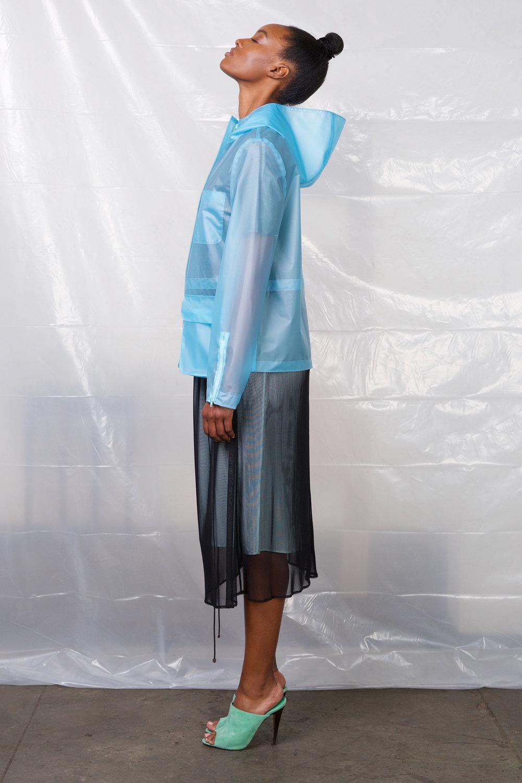 mint dress and raincoat flat.jpg