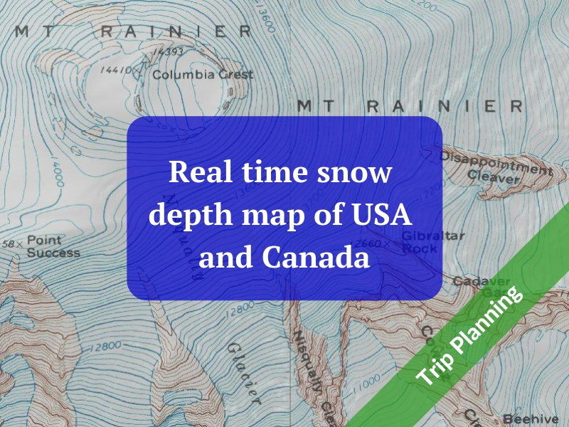 Real time snow depth map of USA and Canada — Alpine Savvy Canada Snow Depth Map on