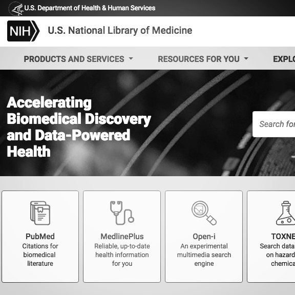 N ational library of medicine , great for research and news