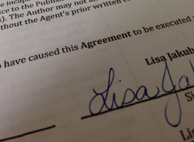 Apparently, this is what a signed book deal looks like