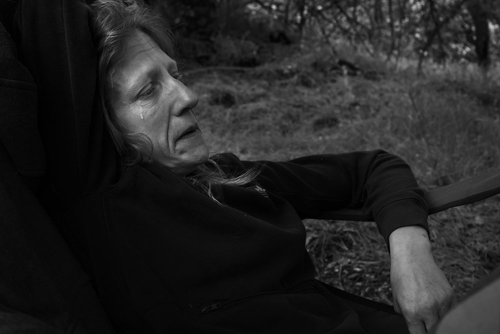 Homeless woman Michelle, Santa Rosa, California.