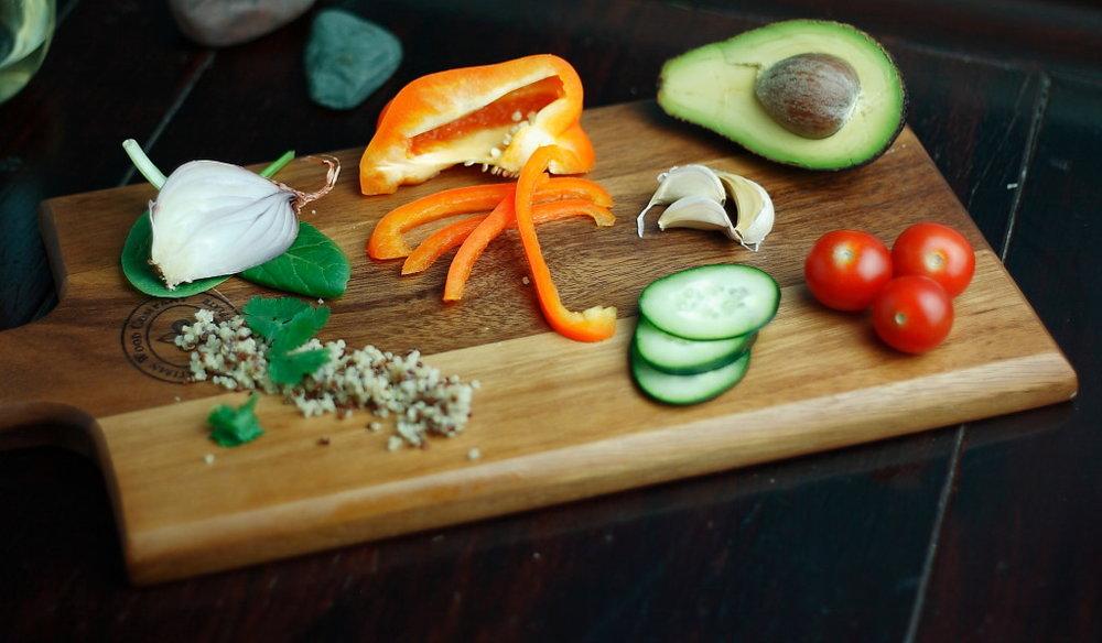 Deconstructed quinoa salad High