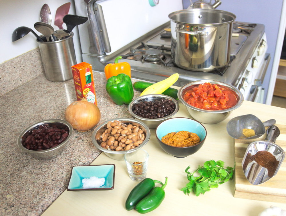 vegetarian chili ingredients