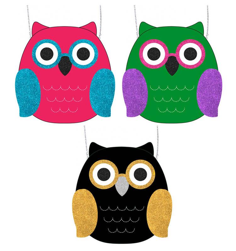 Glitter Owl Purses