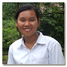 Teacher Tuy Sony   Sony was chosen to be the teacher based on introduction of the village committee. She was the high school students prior to join CCAFO. Sony joined the two week in-house training to become the village based preschool teacher. The Preschool Unit Supervisor Mrs. Yeung Sarang trained and has been conducted the monitoring and provide additional training to Sony.