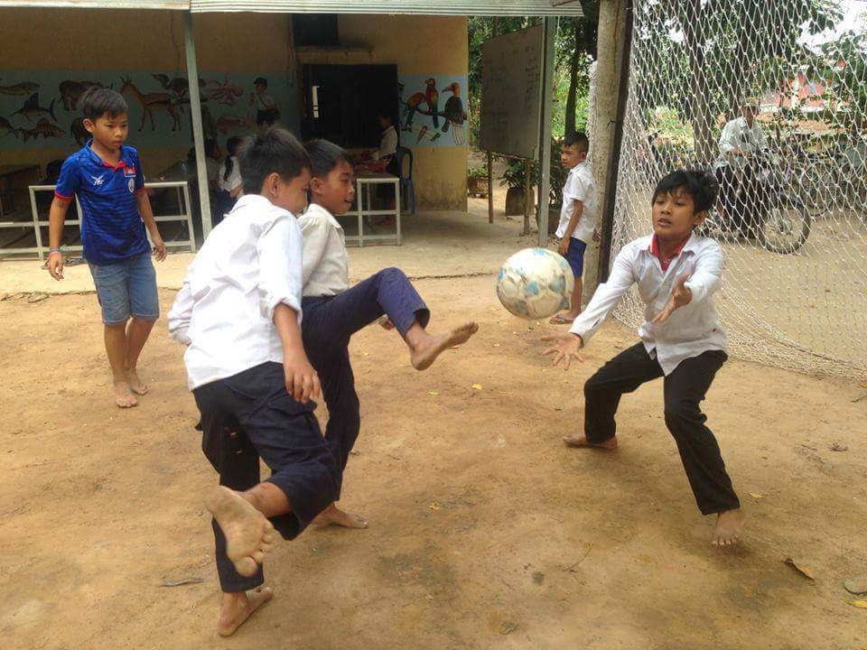 Image: Students enjoy playing sports before attending class.