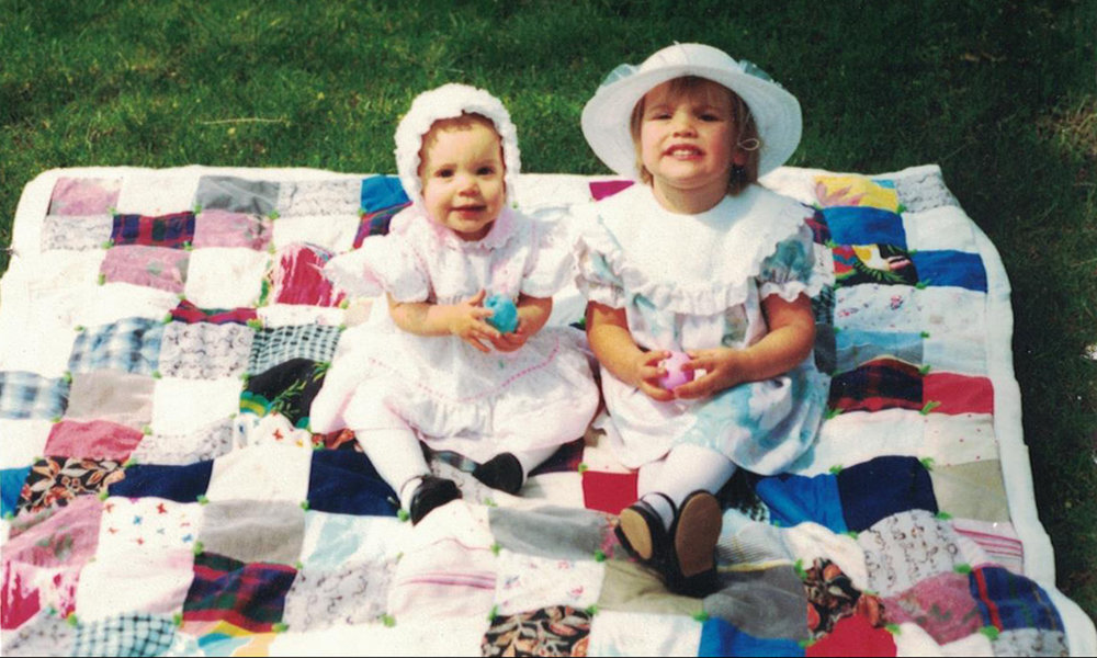 My first Quilt. Photo 1991.