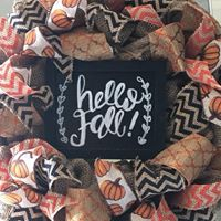 Handmade festive or custom burlap wreaths!
