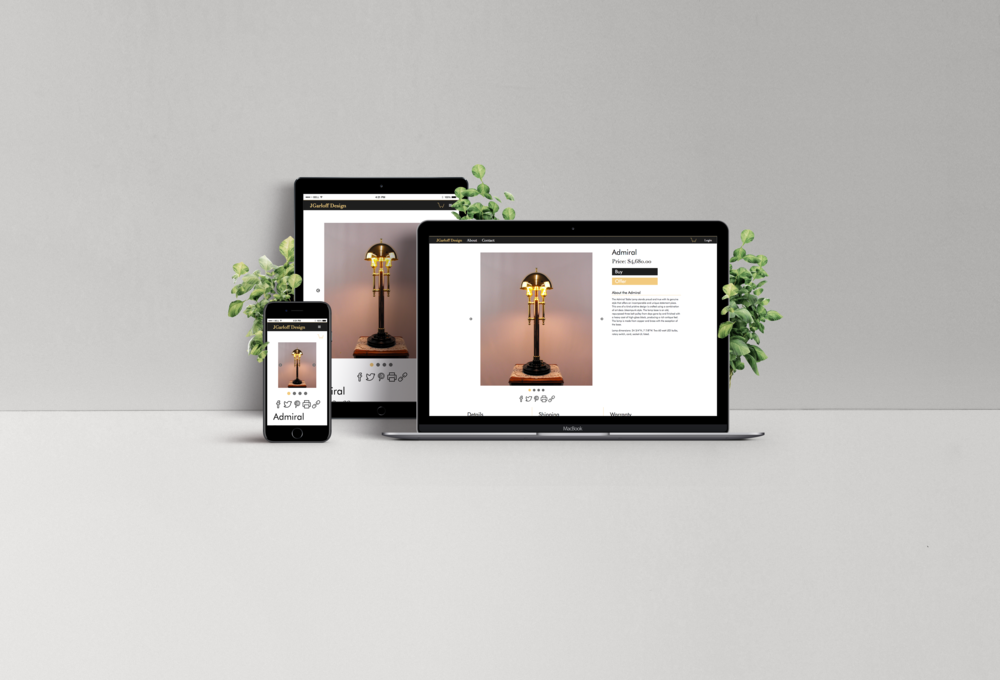 JGarloff Design - We designed and developed the JGarloff Design website and branding from the ground up. Completely responsive and custom developed site for a high class e-commerce experience.