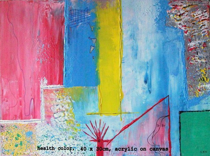 Health color  12 x 16 inch or 30 x 40 cm Acrylic on canvas