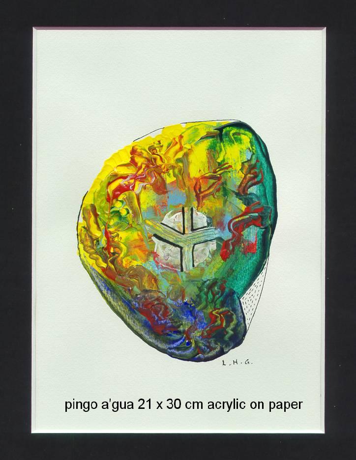 Pingo a'gua  21cm x 30cm - acrylic on paper