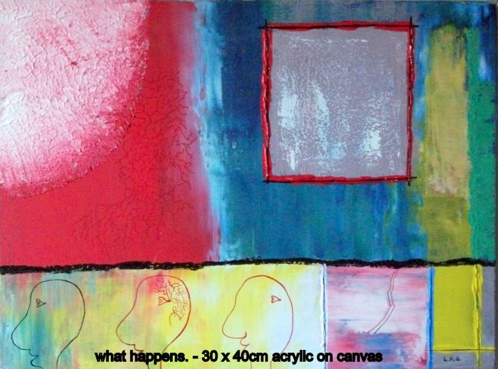 What happens  30cm x 40cm - acrylic on canvas