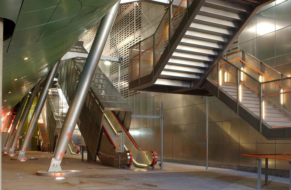 Heron Quays Station Interior - London UK