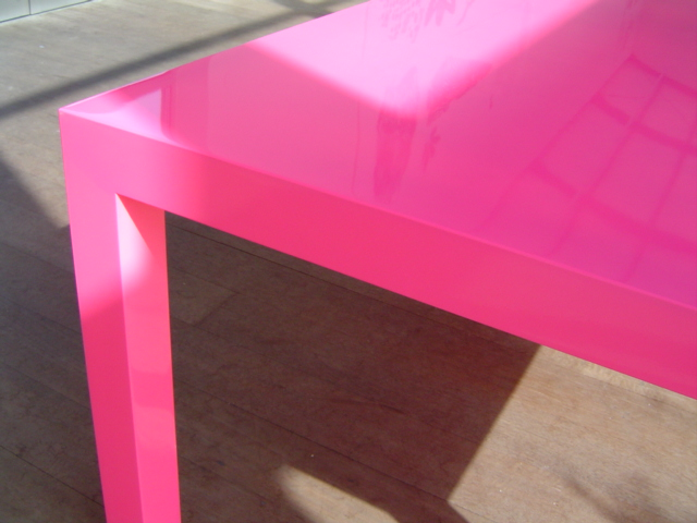 Pink Table Product Design