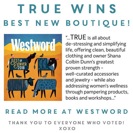TRUE WINS BEST NEW BOUTIQUE