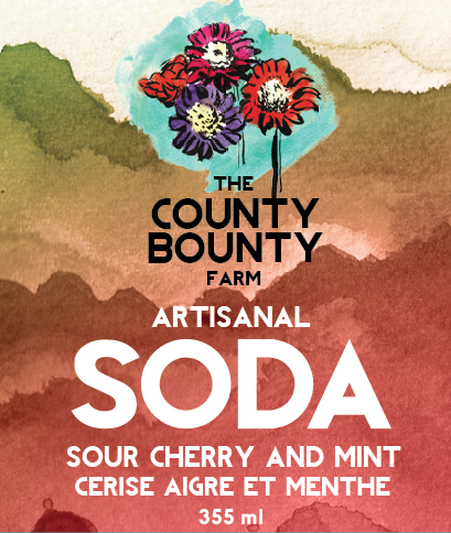 SOUR CHERRY AND MINT SODA: A sweet treat, and not sour at all! It's a refreshing splash of mint after a lovely cherry sip.