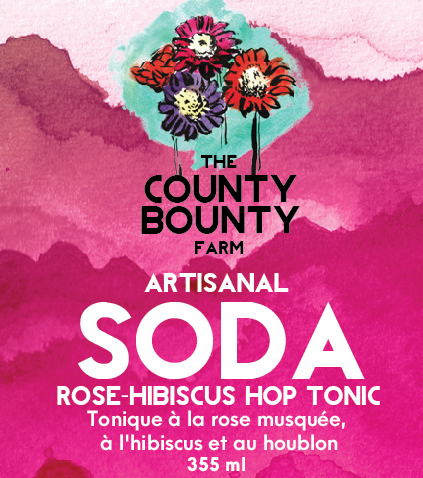 ROSE-HIBISCUS HOPS TONIC: This is a totally unique way to enjoy a non-beer drink while getting that beer flavor you love. This combo of rosehips, hibiscus, and hops blends beautifully!