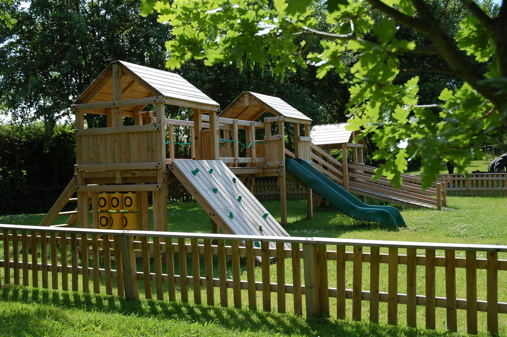 Our outdoor climbing frame to build children's confidence and motor skills.