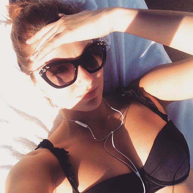 I AM WEARING: BCBGeneration Frill Bikini //    Miu Miu    03PS Sunglasses