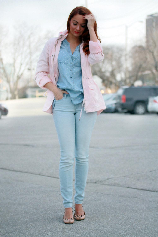 I AM WEARING:    Reitmans Insider Skinny Jeans    //    Reitmans Hooded Jacket    //    Reitmans Polka Dot Blouse    //    Marc by Marc Jacobs    Mouse Flats