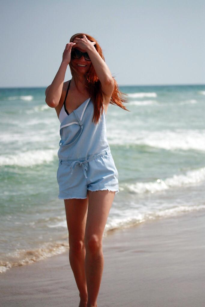 I AM WEARING:    Wilfred Free    Emanuel Romper //    Zara    Bikini //   Miu Miu    03PS Sunglasses