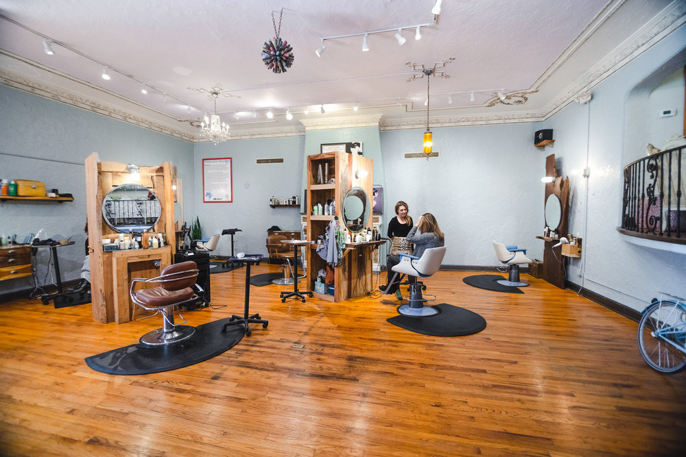 We value collaboration and have rental options for our  salon chairs+studio -