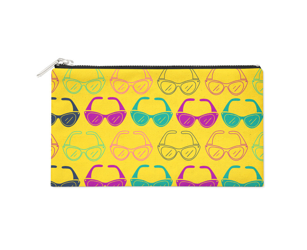 Yellow Sunglasses Pencil Case - $11.00
